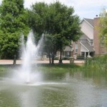 The Homes of Prairie Springs Apartments Pool View..