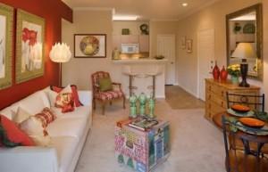 Camden Buckingham Apartment Living Area