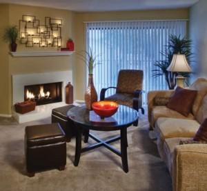 Mission Preston Wood Apartments Living Area